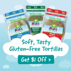 $1 off of Rudi's Gluten-Free Tortillas