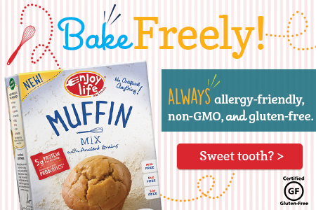 Bake Freely with Enjoy Life Foods! Always allergy-friendly, non-GMO and gluten-free.