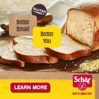 Better bread. Better you. Schar's gluten-free bread.